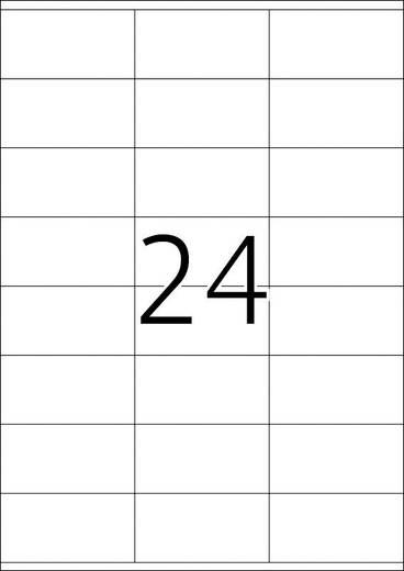 Herma 4453 Etiketten (A4) 70 x 36 mm Papier Weiß 2400 St. Permanent Universal-Etiketten Tinte, Laser, Kopie
