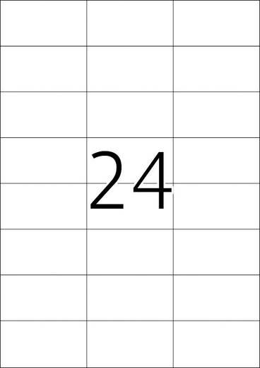 Herma 4615 Etiketten (A4) 70 x 37 mm Papier Weiß 4800 St. Permanent Universal-Etiketten, Frankier-Etiketten Tinte, Laser