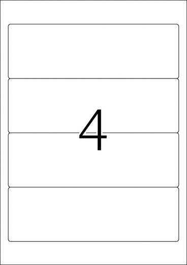 Herma 5095 Etiketten (A4) 61 x 192 mm Papier Weiß 100 St. Permanent Ordner-Etiketten Tinte, Laser, Kopie