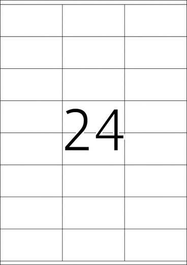 Herma 8638 Etiketten (A4) 70 x 36 mm Papier Weiß 240 St. Permanent Universal-Etiketten, Frankier-Etiketten Tinte, Laser,