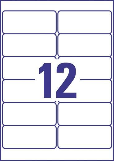 Avery-Zweckform J8177-25 Etiketten (A4) 99.1 x 42.3 mm Papier Weiß 300 St. Permanent Adress-Etiketten, Universal-Etiketten Tinte