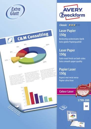 Laser Druckerpapier Avery-Zweckform Classic Laser Papier 1798-200 DIN A4 150 g/m² 200 Blatt Weiß