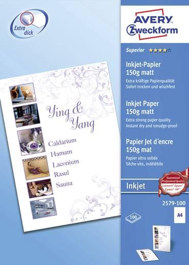 Tintenstrahl Druckerpapier Avery-Zweckform Superior Inkjet Paper 2579-100 DIN A4 150 g/m² 100 Blatt Weiß