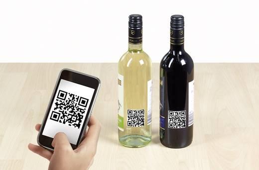 Herma 9642 Etiketten (A4) 40 x 40 mm Papier Weiß 600 St. Permanent QR-Code-Etiketten, Universal-Etiketten Tinte, Laser,