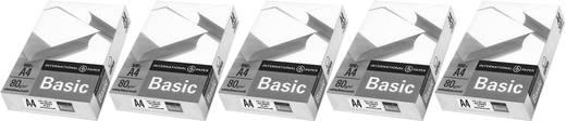 Universal Druckerpapier International Paper IP Basic 88070920 5er Set DIN A4 2500 Blatt Weiß