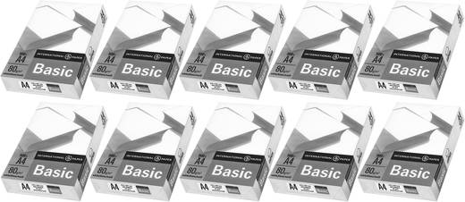 Universal Druckerpapier International Paper IP Basic 88070920 10er Set DIN A4 80 g/m² 5000 Blatt Weiß