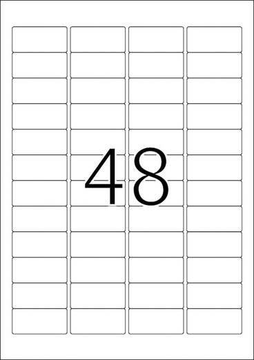 Herma 10902 Etiketten (A4) 45.7 x 21.2 mm Papier Weiß 1200 St. Permanent Kraftkleber-Etiketten, Universal-Etiketten Tinte, Laser, Kopie