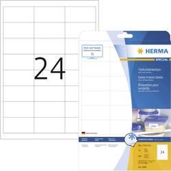 Image of Herma 4389 Etiketten 66 x 33.8 mm Papier Weiß 600 St. Permanent Tiefkühl-Etiketten Tinte, Laser, Kopie