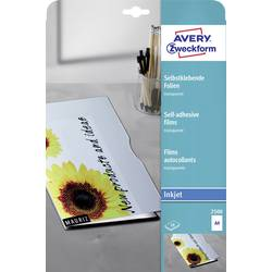 Image of Avery-Zweckform 2500 Selbstklebefolie DIN A4 Tintenstrahldrucker Transparent 10 St.