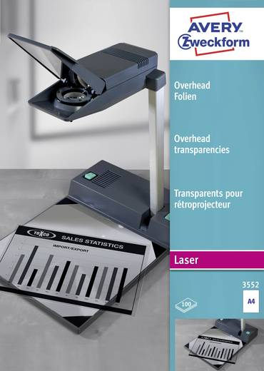 Laser Overhead-Folie Avery-Zweckform 3552 3552 DIN A4 Transparent 100 St.