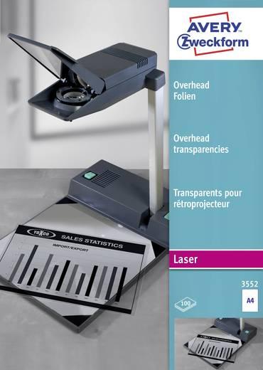 Laser Overhead-Folie Avery-Zweckform Overhead Folien 3552 DIN A4 Transparent 100 St.