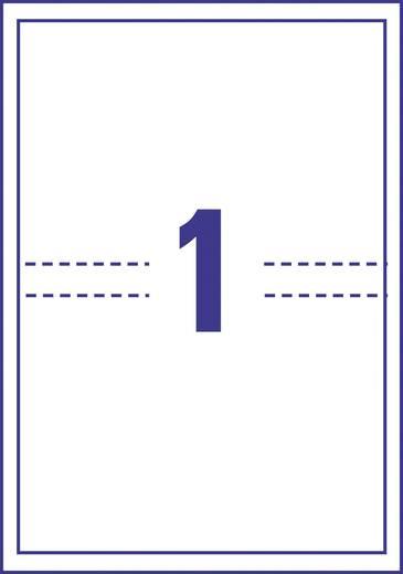 Avery-Zweckform J8437-25 Weiß 25 St. Tinte