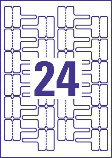 Avery-Zweckform J8950-10 Etiketten 60 x 40 mm Polyester-Folie Weiß 240 St. Permanent Kabel-Etiketten Tinte