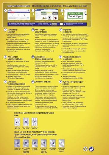 Avery-Zweckform L6112-20 Etiketten (A4) Ø 40 mm Polyester-Folie Weiß 480 St. Permanent Sicherheits-Etiketten