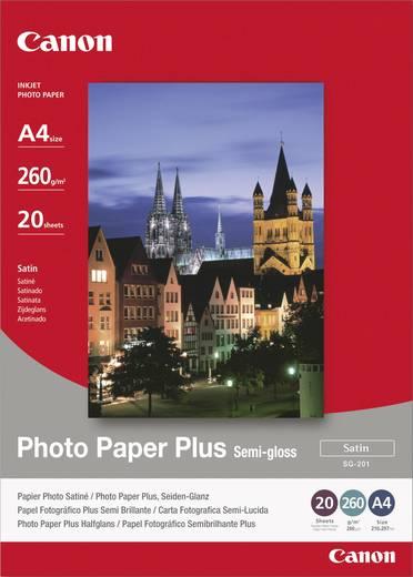Fotopapier Canon Photo Paper Plus Semi-gloss SG-201 1686B021 DIN A4 260 g/m² 20 Blatt Seidenglänzend