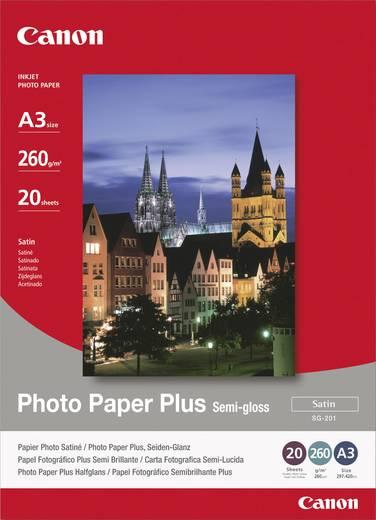 Fotopapier Canon Photo Paper Plus Semi-gloss SG-201 1686B026 DIN A3 260 g/m² 20 Blatt Seidenglänzend