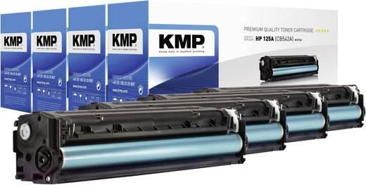 KMP Toner Kombi-Pack ersetzt HP 125A, CB540A, CB541A, CB542A, CB543A Kompatibel Schwarz, Cyan, Magenta, Gelb 2200 Seiten