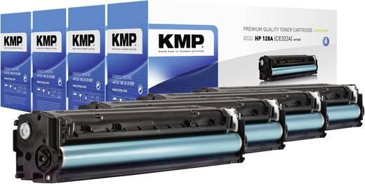 KMP Toner Kombi-Pack ersetzt HP 128A, CE320A, CE321A, CE322A, CE323A Kompatibel Schwarz, Cyan, Magenta, Gelb 2000 Seiten H-T144V