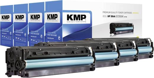 KMP Toner ersetzt HP 304A, CC530A, CC531A, CC532A, CC533A Kompatibel Schwarz, Cyan, Magenta, Gelb 3500 Seiten H-T122V