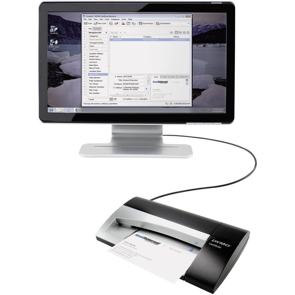 Business card scanner DYMO CardScan Executive V9 300 x 300 dpi USB ...