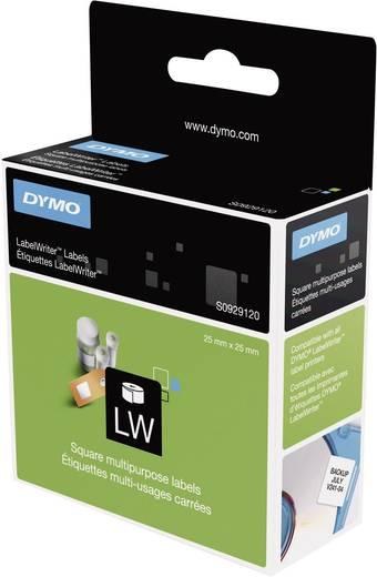 DYMO S0929120 Etiketten Rolle 25 x 25 mm Papier Weiß 750 St. Wiederablösbar Universal-Etiketten