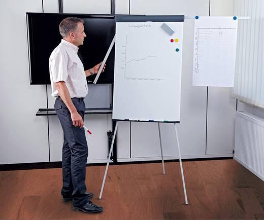 MAUL Flipchart Standard Plus, Dreibein, 2 Papierhalter, höhenverstellbar, magnethaftend, silber, 6372282