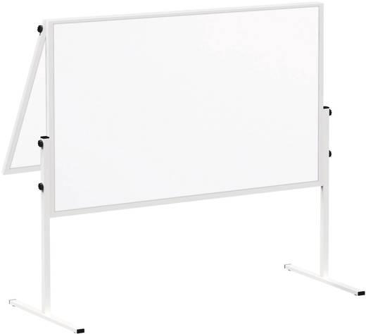 Maul Moderationstafel MAULsolid (B x H) 120 cm x 150 cm Weiß Inkl. Rollen, beidseitig verwendbar, Pinntafel, zusammenkla