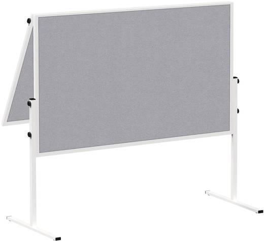 Maul Moderationstafel MAULsolid (B x H) 120 cm x 150 cm Grau Inkl. Rollen, beidseitig verwendbar, Pinntafel, zusammenkla