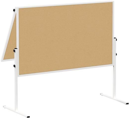 Maul Moderationstafel MAULsolid (B x H) 120 cm x 150 cm Braun Inkl. Rollen, beidseitig verwendbar, Pinntafel, zusammenkl
