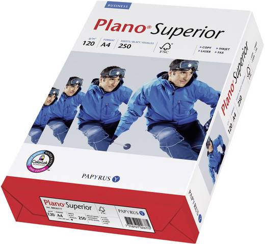 Universal Druckerpapier Papyrus Plano Superior 88026786 DIN A4 120 g/m² 250 Blatt Weiß