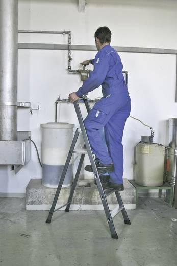Aluminium Stufen-Stehleiter Arbeitshöhe (max.): 3.50 m Krause 124210 Silber, Blau 6.90 kg