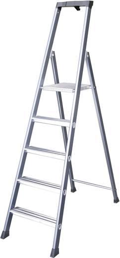 Aluminium Stufen-Stehleiter Arbeitshöhe (max.): 3.25 m Krause 124203 Silber, Blau 6.10 kg