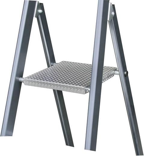 Aluminium Stufen-Stehleiter Arbeitshöhe (max.): 3.70 m Krause 124227 Silber, Blau 7.70 kg