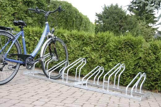 Fahrradständer 4 Plätze 1-seitig Moravia 169.14.842 Stahl Zink-Grau