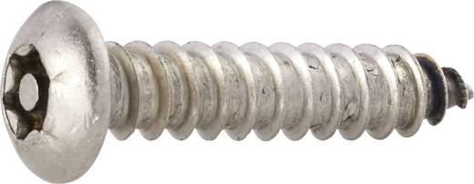 TOOLCRAFT 88114 Linsenblechschrauben 4.2 mm 13 mm T-Profil mit Stift Edelstahl 10 St.