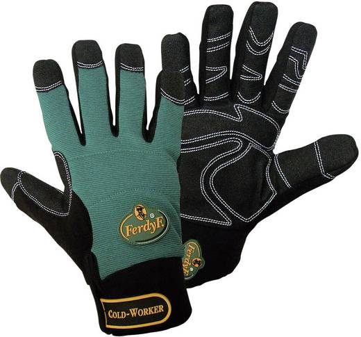 FerdyF. 1990 Handschuh Mechanics COLD WORKER CLARINO®-Kunstleder Größe (Handschuhe): 7, S