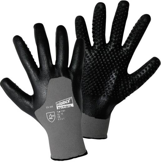 Nylon Arbeitshandschuh Größe (Handschuhe): 8, M EN 388 CAT II worky NITRIL IGEL 1161 1 Paar