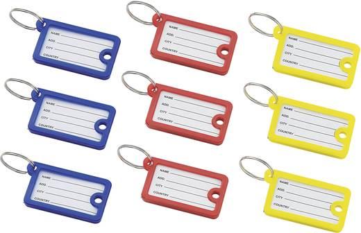 887088 9tlg. Schlüsselanhänger-Set Inhalt 9 St. 2f. Lieferumfang 9 Schlüsselanhänger (3 Gelb/3 Blau/ 3Rot)