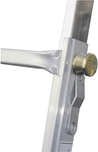 Aluminium Teleskopleiter inkl. 4 ausziehbaren Holmen Arbeitshöhe (max.): 6.05 m Krause 123596 Silber 18.5 kg