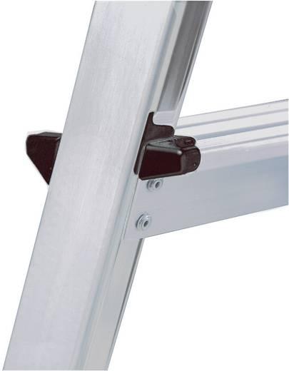 Aluminium Stufen-Doppelleiter Arbeitshöhe (max.): 2.20 m Krause 120328 Silber 2.4 kg