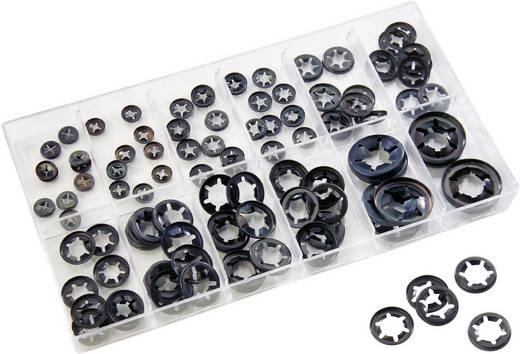 17602 100 tlg. Schnellbefestiger-Sortiment Inhalt 100 Teile 2f. Lieferumfang 100 Schnellbefestiger von 2 mm - 12 mm · So