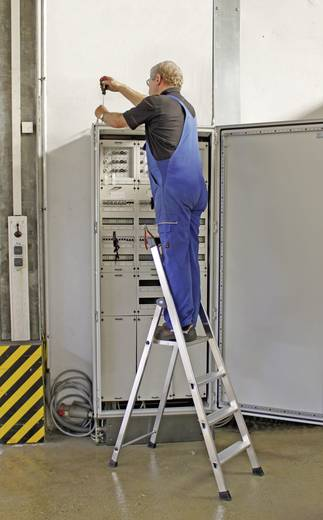 Krause 126665 Aluminium Stufen-Stehleiter Arbeitshöhe (max.): 3.50 m Silber 7 kg