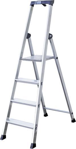 Aluminium Stufen-Stehleiter Arbeitshöhe (max.): 3.70 m Krause 126672 Silber 8 kg