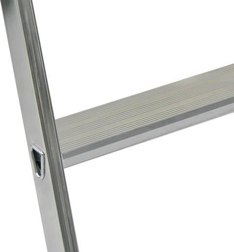 Aluminium Stufen-Stehleiter Arbeitshöhe (max.): 2.85 m Krause 126634 Silber 4.4 kg