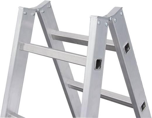 Aluminium Stufen-Doppelleiter Arbeitshöhe (max.): 5.75 m Krause STABILO® Sprossen-DoppelLeiter 801746 Silber 19.5 kg