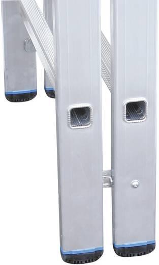 Aluminium Stufen-Doppelleiter Arbeitshöhe (max.): 5.75 m Krause STABILO® 801746 Silber 19.5 kg