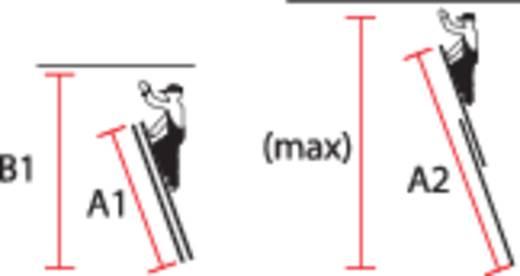 Aluminium Seilzugleiter inkl. Traverse Arbeitshöhe (max.): 9.85 m Krause STABILO 123428 Silber 27 kg