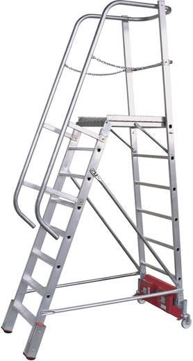 Aluminium Podestleiter Arbeitshöhe (max.): 4.35 m Krause 833167 Silber 49 kg