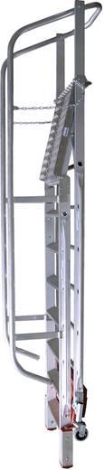 Aluminium Podestleiter Arbeitshöhe (max.): 4.75 m Krause 833365 Silber 52 kg