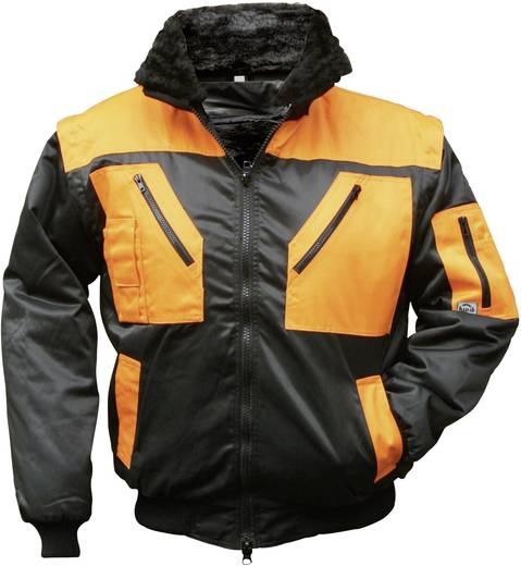 Griffy 4208 4-in-1 Multifunktions-Pilotjacke mit Warneffekt Schwarz, Orange M